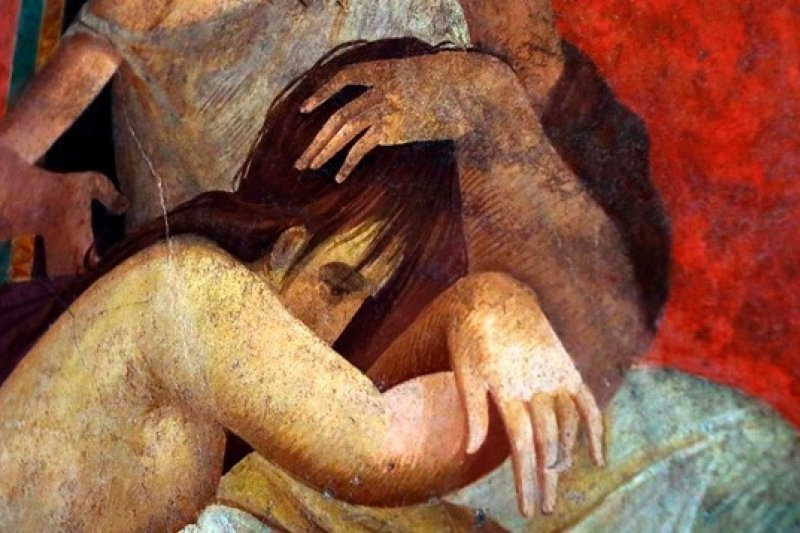 義大利龐貝古蹟修復完成的壁畫(美聯社)