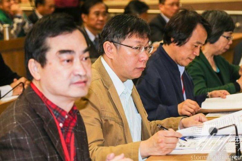 台北市長柯文哲出席局處長的百人研習,強調他上任後最想改變的就是政府的治理文化。(吳逸驊攝)