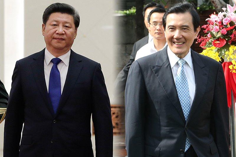 馬英九總統(吳逸驊攝) 在新加坡與習近平(美聯社)展開歷史性會面。