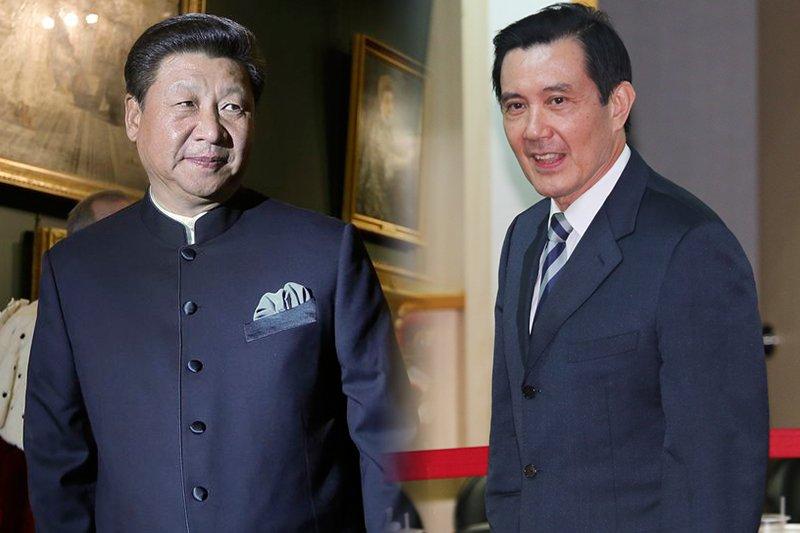 總統馬英九(余志偉攝) 將在七日赴星與中國國家主席習近平(美聯社)會面。(風傳媒合成)