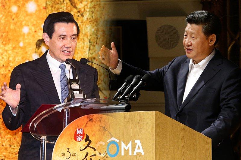馬英九總統(林韶安攝) 將在七日與中國國家主席習近平(美聯社)在新加坡會面。(風傳媒合成)