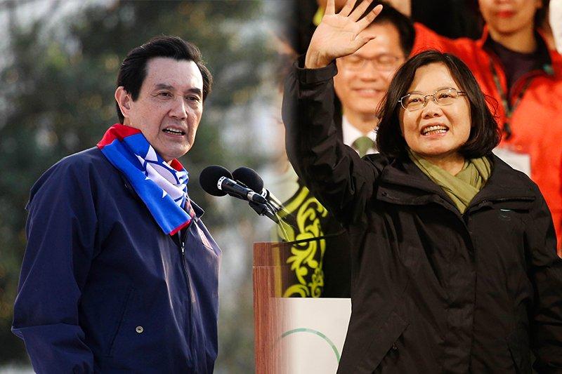 大選結束,馬英九總統(葉信菉攝)拋出多數黨組閣,總統當選人蔡英文(美聯社)另有所想。