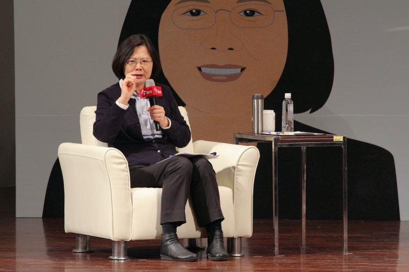 總統當選人蔡英文出席今周刊1000期「妳的世代 我們的未來  與小英姐姐面對面論壇」(葉信菉攝)