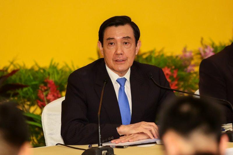 馬英九總統於馬習會後記者會召開記者會。(顏麟宇攝)