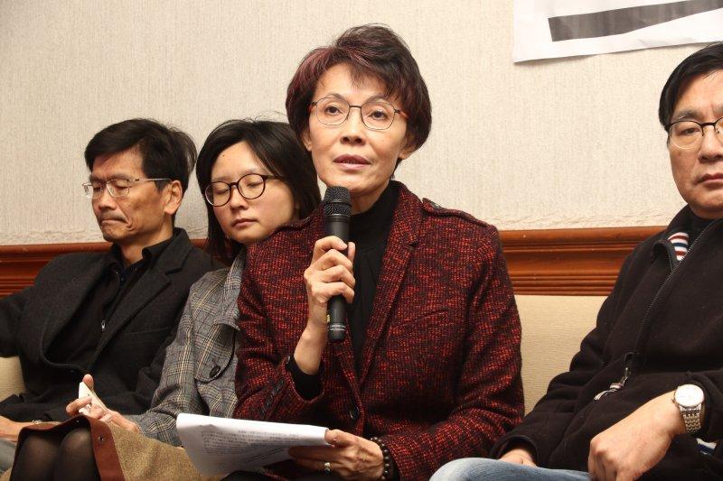20170313儘速通過難民法記者會,立委黃昭順到場聲援。