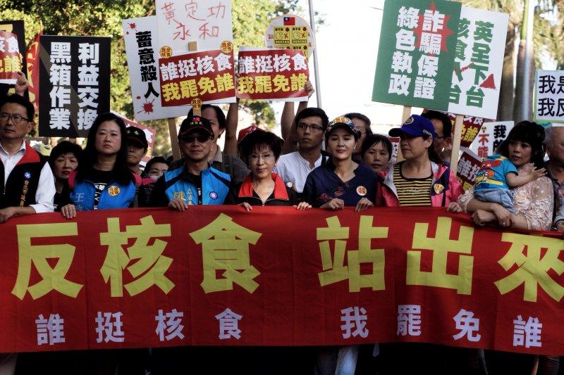 20161225國民黨反核食遊行,洪秀柱於遊行隊伍中