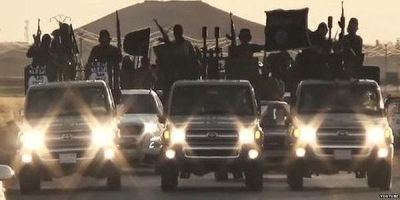 伊斯蘭國的武裝民兵。