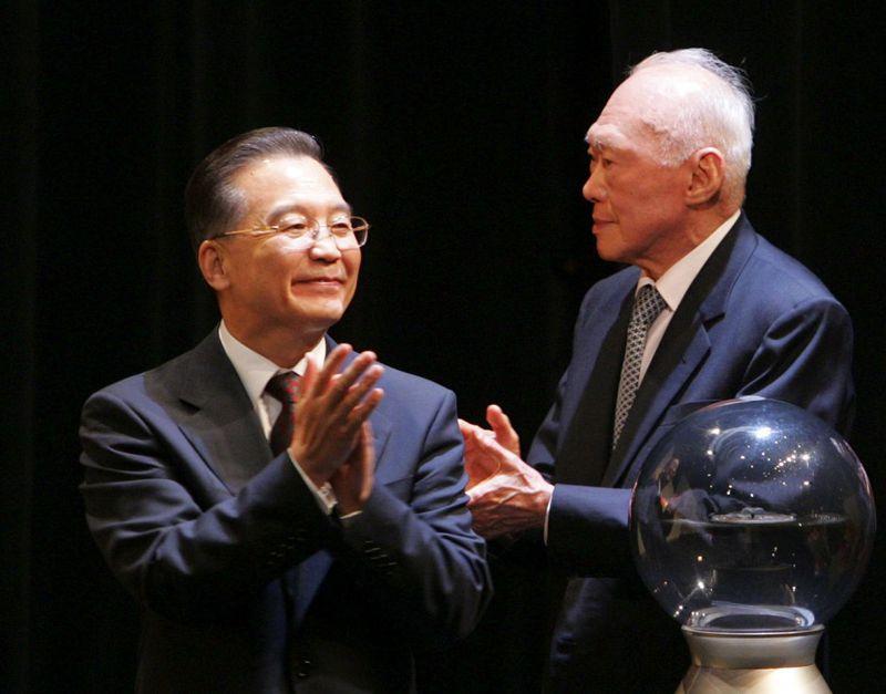 李光耀與中國前總理溫家寶
