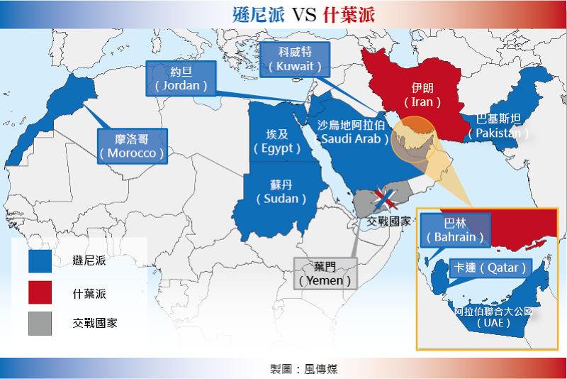 葉門內戰以成為代理戰爭。(風傳媒製圖)