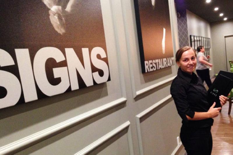 有機會造訪加拿大,體驗手語餐廳的魅力(圖/Signs Restaurant)