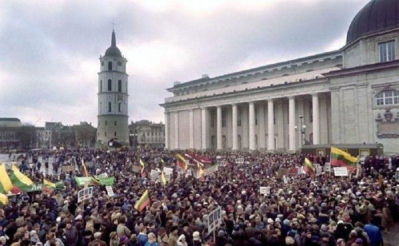 立陶宛獨立首都示威