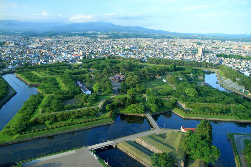 北海道函館市的五稜郭建築