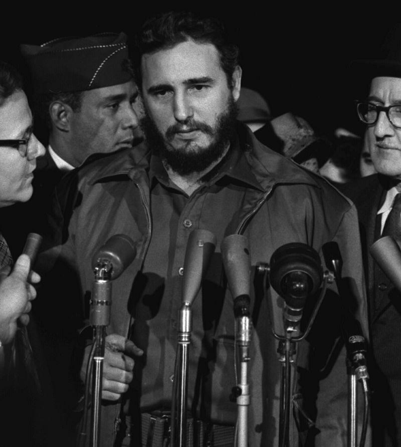古巴革命領導人菲德爾.卡斯楚1959年訪問華府