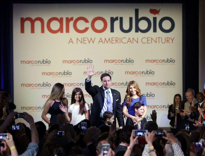 美國佛州現任參議員魯比歐13日宣布角逐共和黨總統提名。(美聯社)