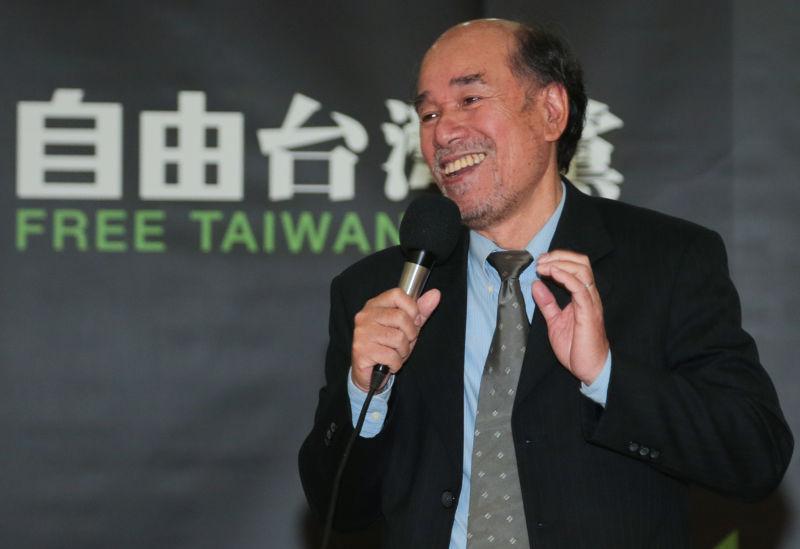 立法院,「自由台灣黨」宣佈組黨記者會,組黨發起人蔡丁貴。(余志偉攝)