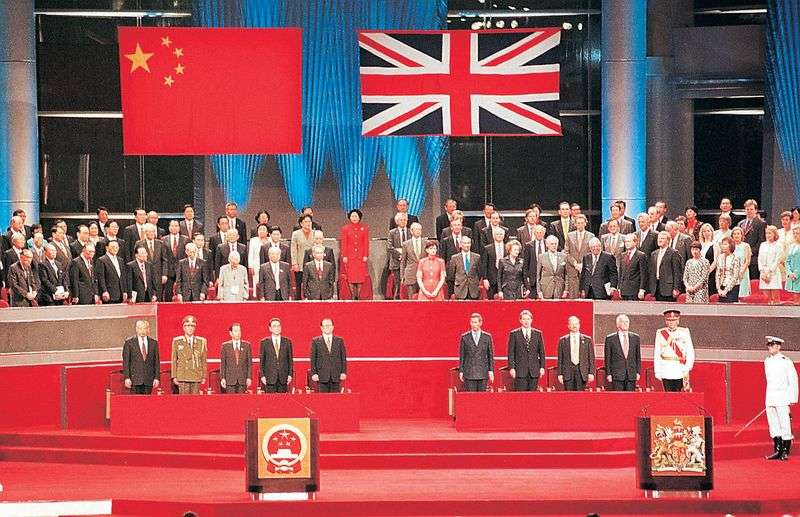 1997年港英與中國政權交接。(人民網0