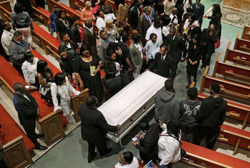 葛瑞葬禮。(美聯社)