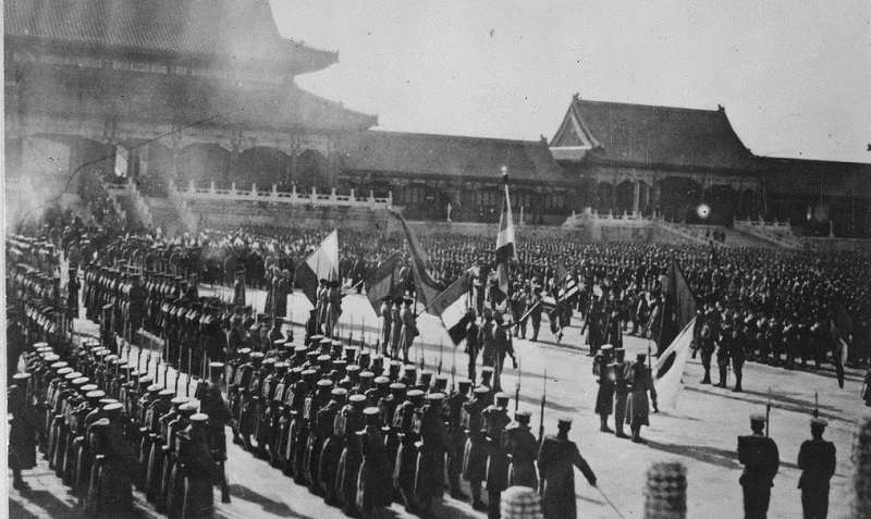 紫禁城裡的八國聯軍(US National Archives bot/維基百科)