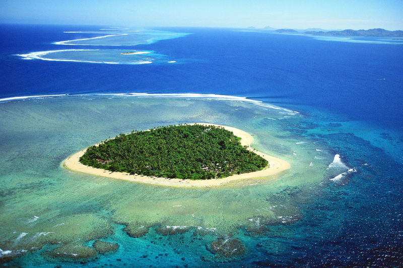 浪漫心形島嶼是戀人們最嚮往的甜蜜朝聖地(圖/ when on earth)