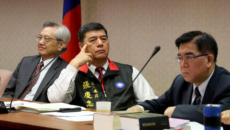張慶忠主持內政委員會。