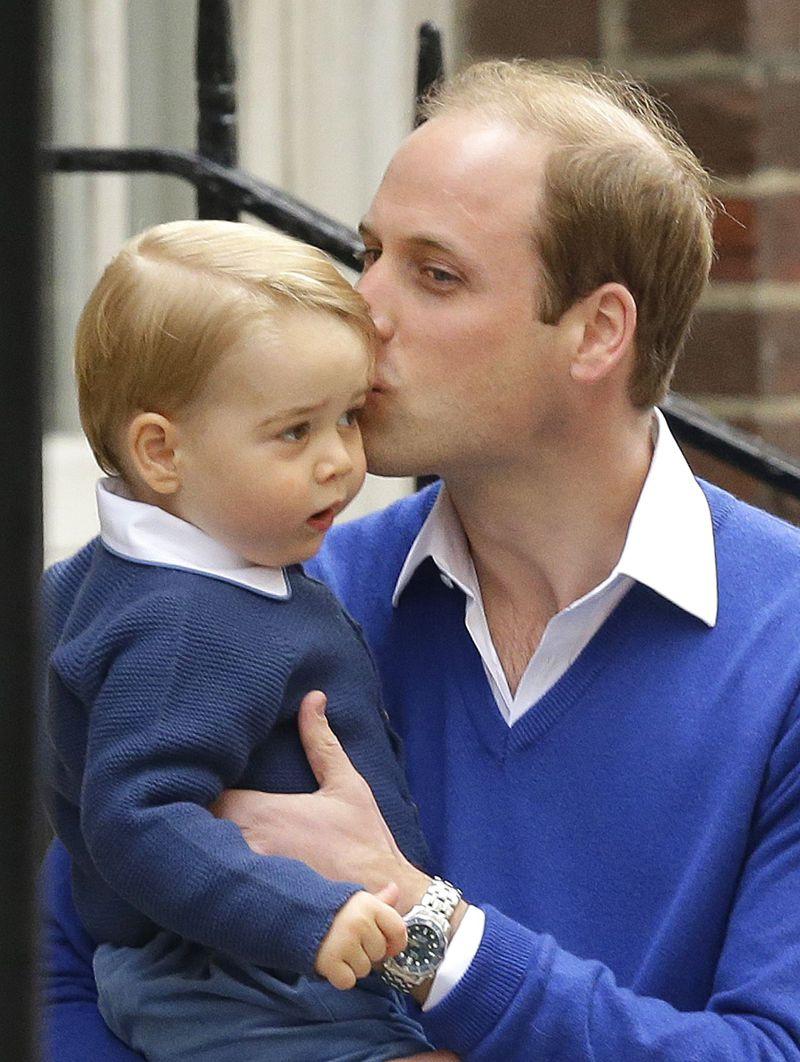 威廉王子與喬治王子。(美聯社)