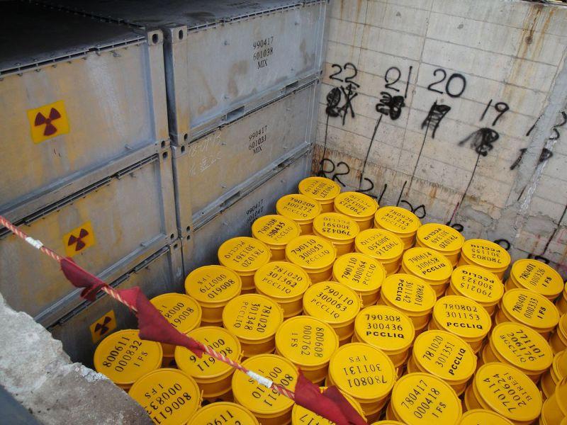 蘭嶼貯存場的核廢料桶