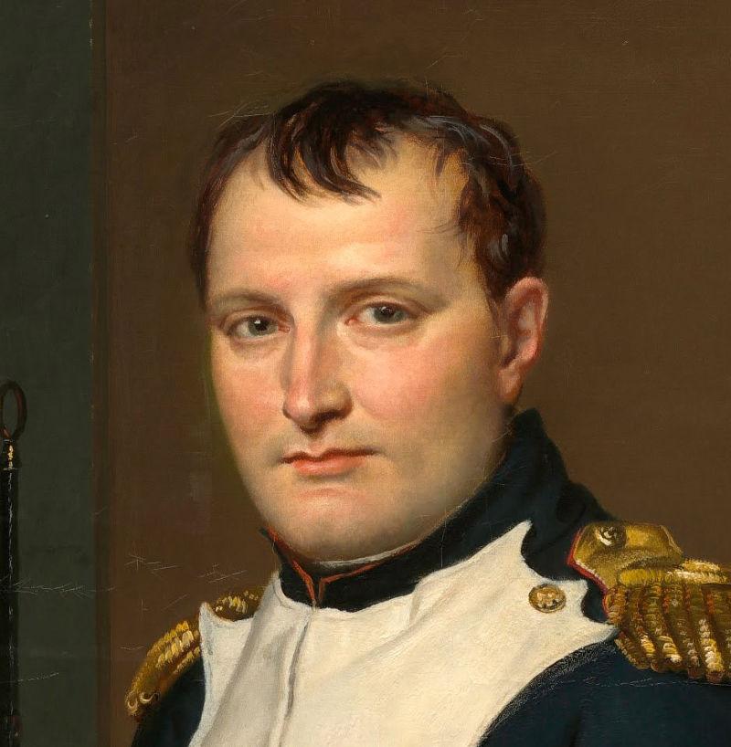 Jacques-Louis David 繪製的拿破崙畫像。(取自維基百科)