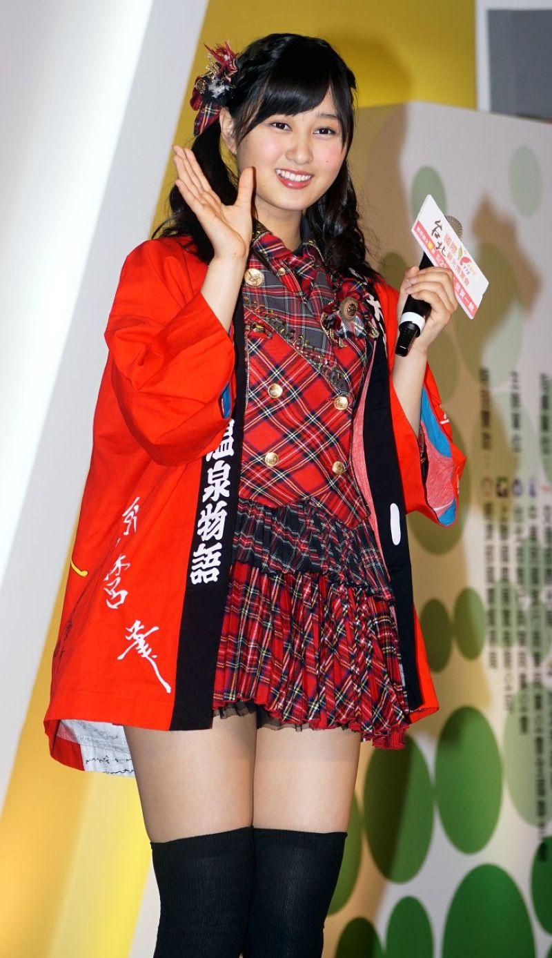 20150523台北國際觀光博覽會日本女子團體AKB48的野澤玲奈、旅展。(蘇仲泓攝) (1).jpg