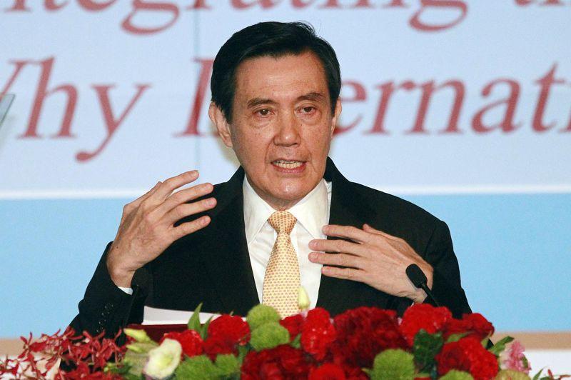 馬英九總統26日出席國際法學會論壇提出「南海和平倡議」(美聯社)