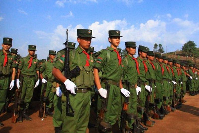 佤邦聯合軍。(騰訊網)