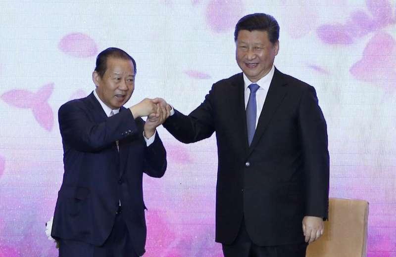 中國國家主席習近平(右)接見日本自民黨總務會長二階俊博