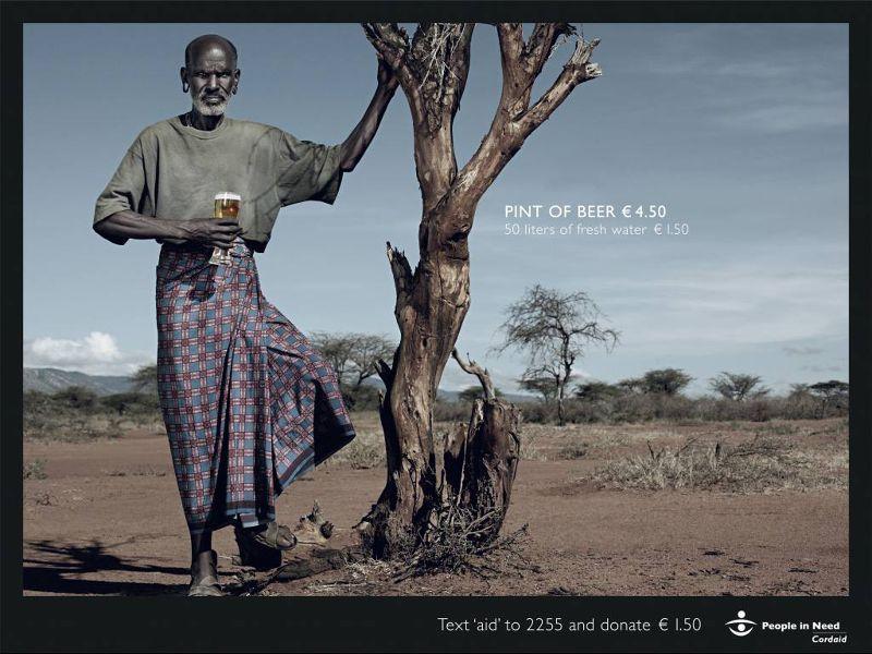 一品脫的啤酒4.5歐元,可以買到150公升的清水。