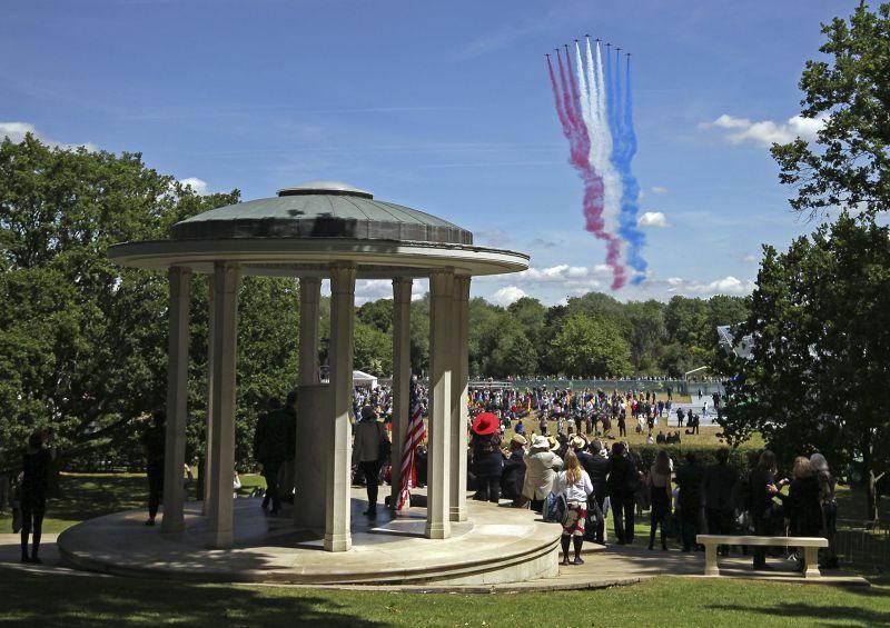 15日,英國慶祝大憲章簽訂800周年。(美聯社)