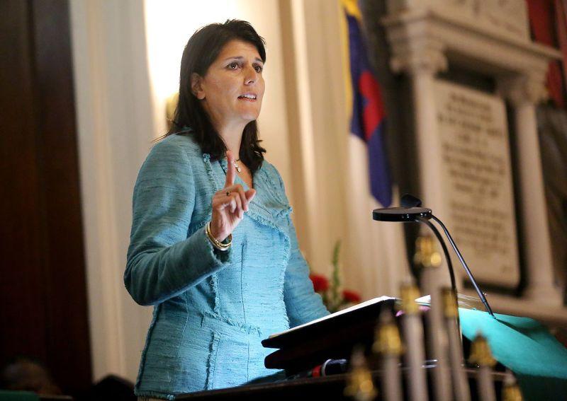 南卡羅來納州教堂屠殺案,州長海莉(Nikki Haley)(美聯社)