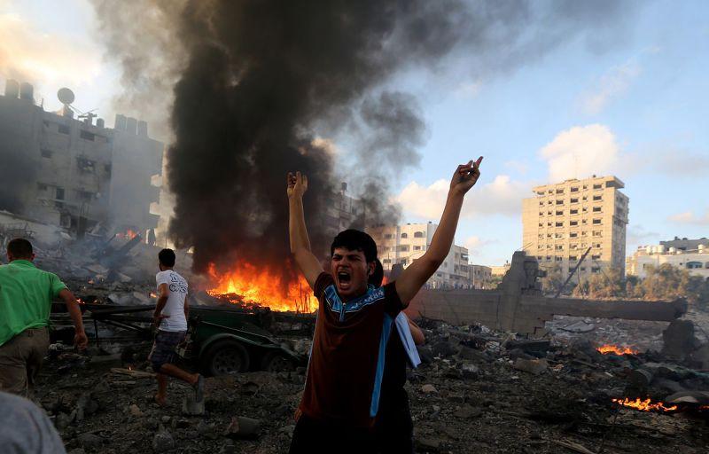 2014年的加薩戰亂,再度點燃年輕一任巴勒斯坦人的怒火(美聯社)