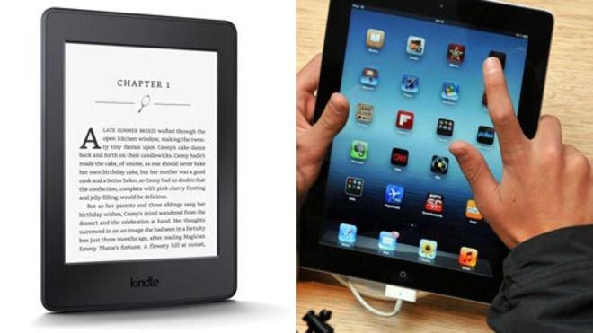 雖然讀電子書輕便省事但讀紙質書會有不一樣的感受。(BBC中文網)