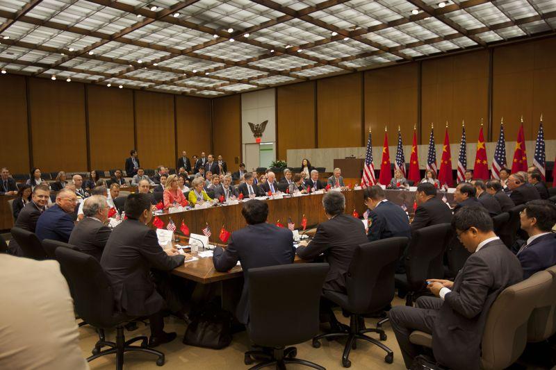 第7屆中美戰略經濟對話會場。(美聯社)