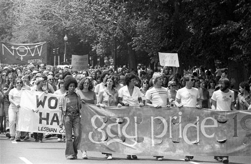 1970年在波士頓舉行的同性戀自豪日遊行。