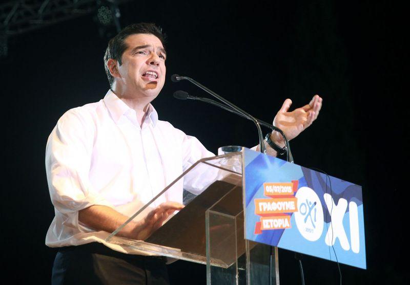 希臘公投在即,總理齊普拉斯(Alexis Tsipras)呼籲選民投下反對票(美聯社)