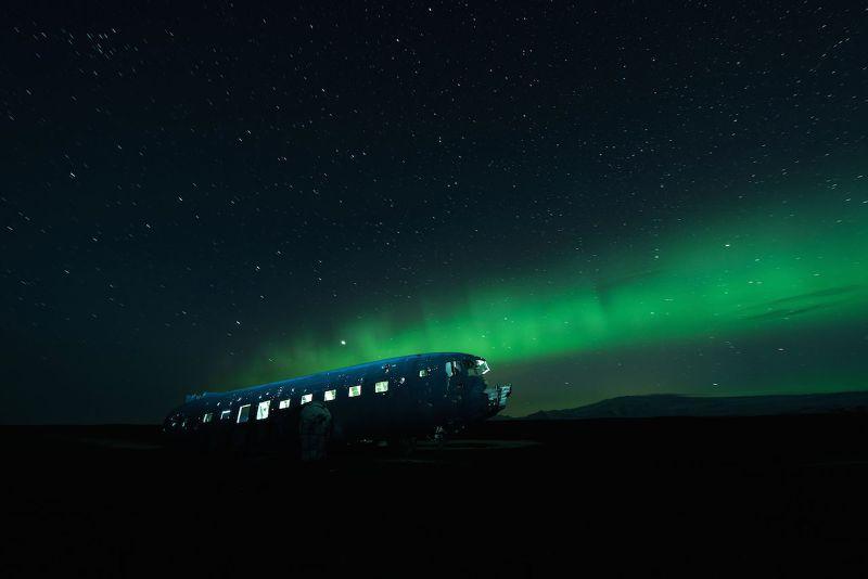 在冰島南海拍攝的《夜晚的靈魂》。(取自David de Rueda photography臉書)