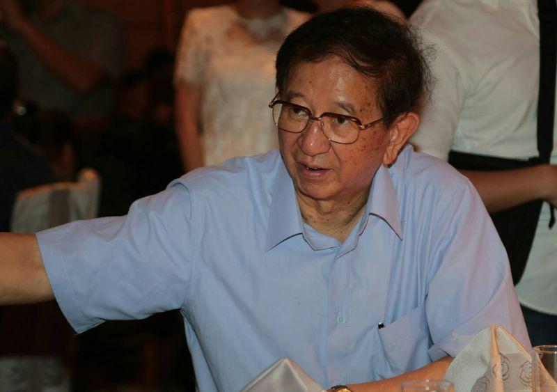 時代力量18日於台北市大直典華旗艦館舉行「時代力量2015募款大會」,李遠哲出席(余志偉攝)