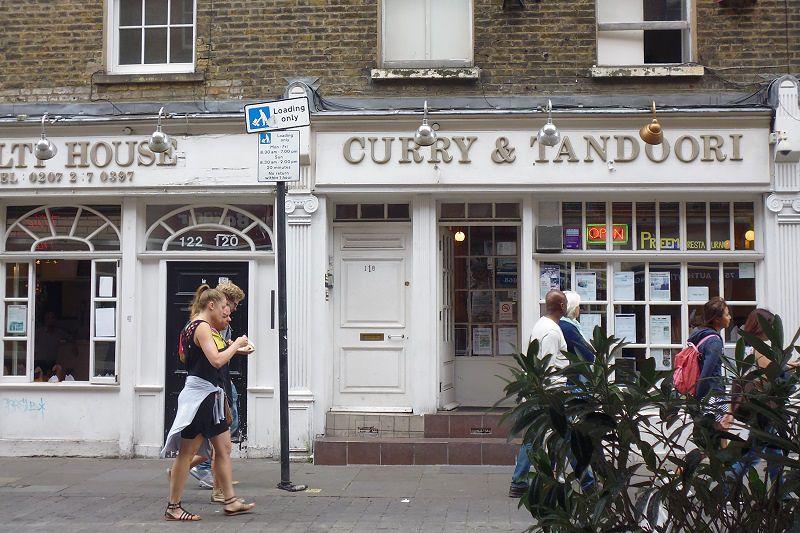 倫敦的一家印度餐館  (白曉紅 攝)
