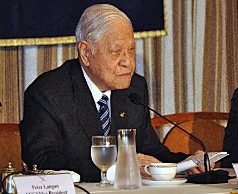 前總統李登輝於日本召開記者會。(時事通信)