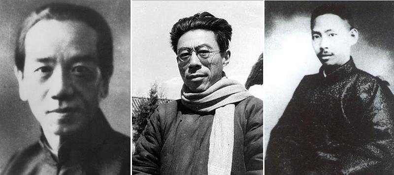 蔣介石縱容的暗殺行動包括知名學者和報人。自左自右為史量才、聞一多和楊杏佛。(取自互動百科、維基百科、百度百科)