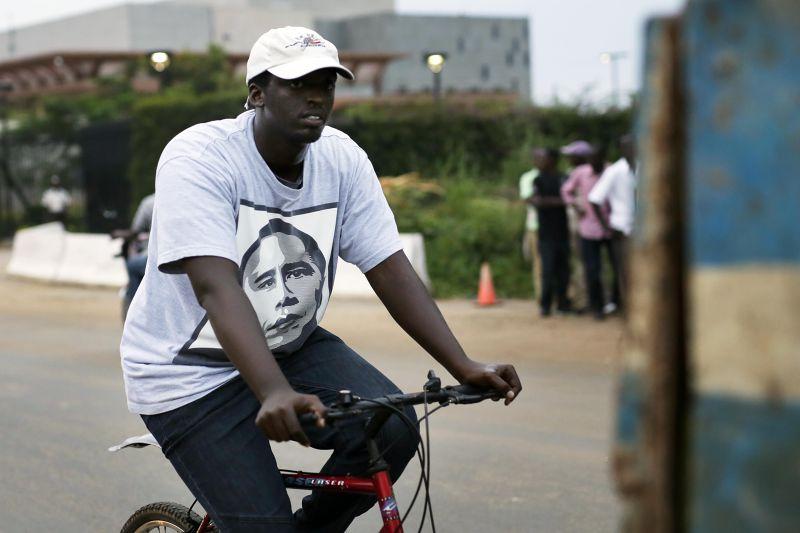 T恤上的歐巴馬頭像。(美聯社)