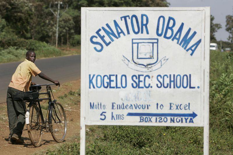 校名冠上參議員歐巴馬的學校。(美聯社)