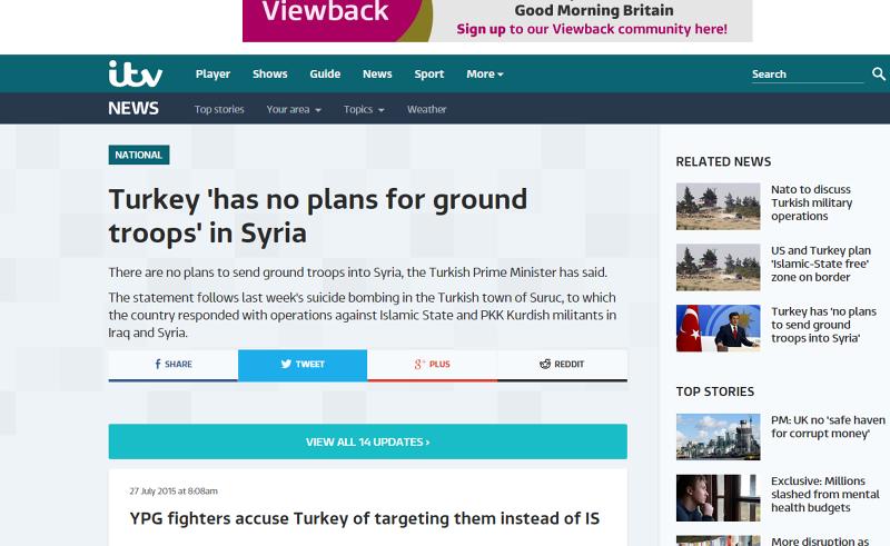 庫爾德YPG抗議土耳其砲擊。(取自網路)