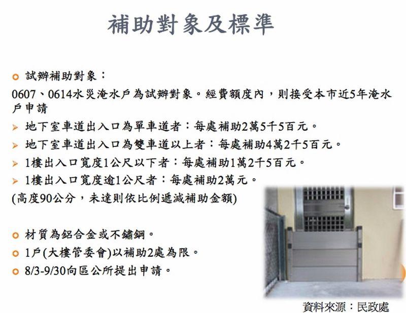 台北市強降雨災害補助標準。 (複製).JPG