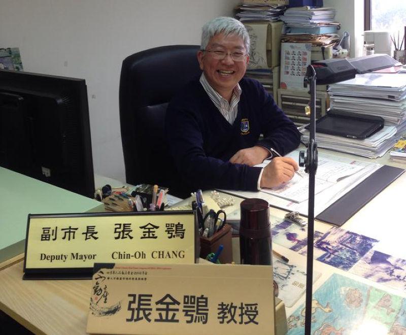 20150728前市長郝龍斌時期的副市長、現任政治大學地政系教授的張金鶚表示,中央的力量進入是應該的,最主要能提供土地取得的協助。(取自張金鴞臉書)