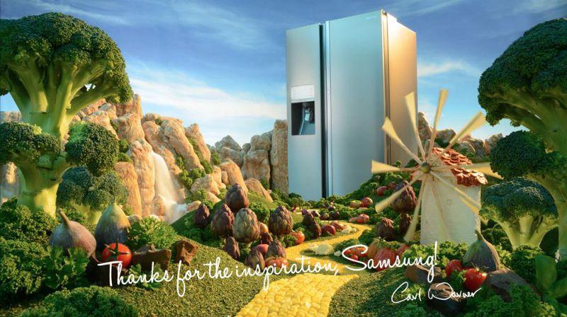 卡爾為三星家電設計的廣告(圖/Jamie Stephen@vimeo)